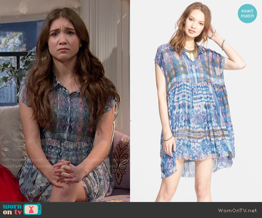 Free People Extreme Shirtdress worn by Rowan Blanchard on Girl Meets World