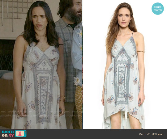 Free People Fauna Midi Dress worn by Cleopatra Coleman on Last Man On Earth