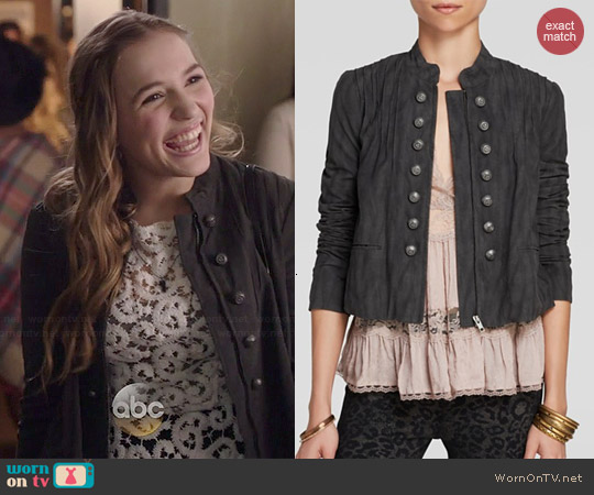 Free People Faux Suede Femme Band Jacket worn by Maddie Jaymes on Nashville