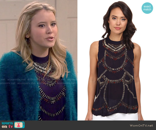 Free People Ferris Wheel Top worn by Taylor Spreitler on Melissa & Joey