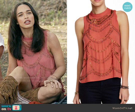 Free People 'Ferris Wheel' Top in Terracotta worn by Erica on Last Man On Earth