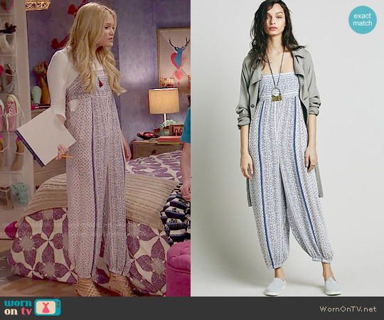 Free People Firefly Jumpsuit worn by Olivia Holt on IDDI