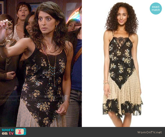 Free People Floral Flouncy Slip worn by Meera Rohit Kumbhani on Weird Loners