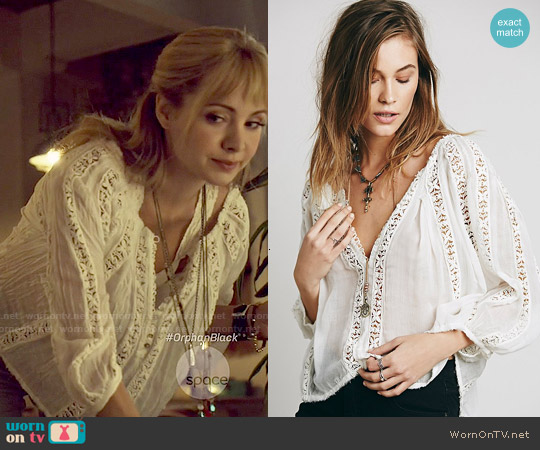 Free People Flower Chain Top worn by Ksenia Solo on Orphan Black