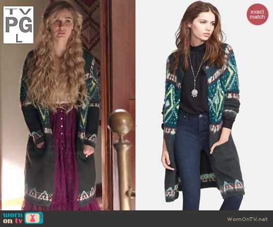 Free People Frosted Fair Isle Cardigan worn by Claire Bowen on Nashville