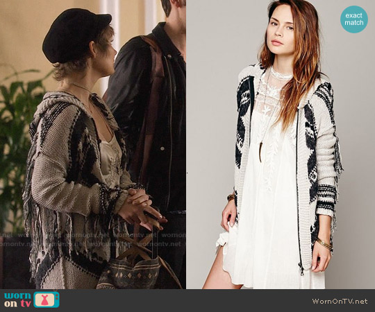 Free People Geo Fringe Hooded Cardigan worn by Hayden Panettiere on Nashville