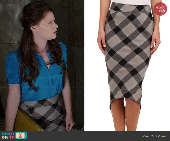 Free People Geometric Precision Skirt worn by Emilie de Ravin on OUAT