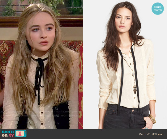 Free People Hannah Neck Tie Top worn by Sabrina Carpenter on Girl Meets World