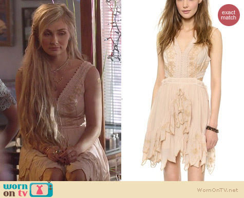 Free People Honey Suckle Rose Dress in Ballet worn by Clare Bowen on Nashville