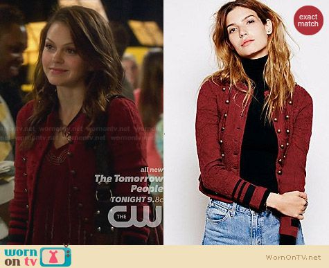 Free People In The Band Jacket worn by Aimee Teegarden on Star-Crossed