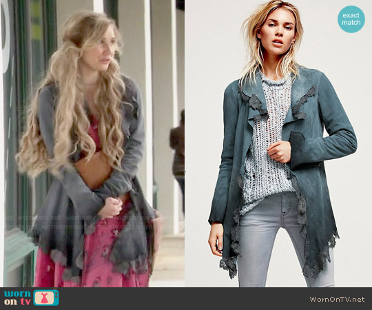 Free People Infinite Arms Corset Jacket worn by Scarlett O'Connor on Nashville