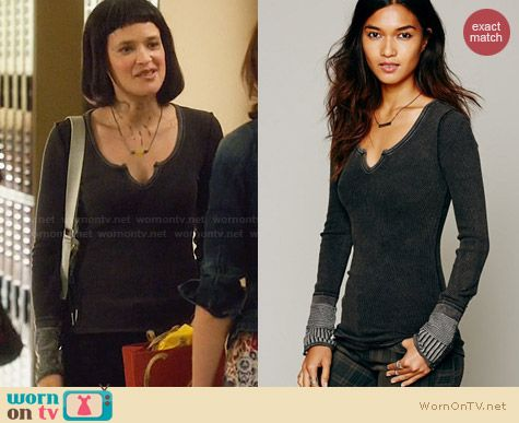 Free People Kyoto Cuff Thermal Tee worn by Brina Palencia on Star Crossed