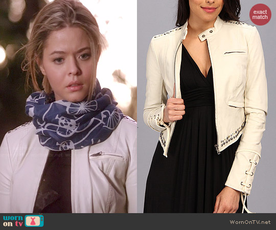 Free People Faux Leather Lace Up Jacket worn by Sasha Pieterse on PLL
