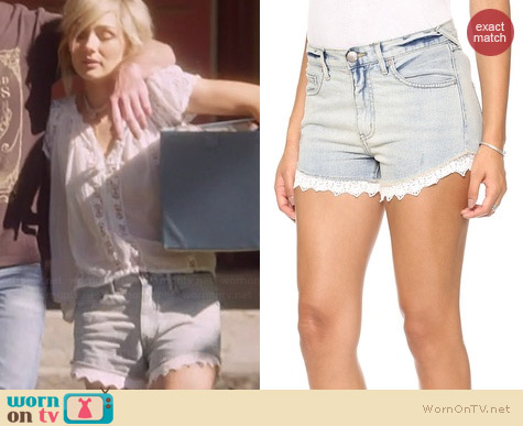 Free People Lacy Cutoff Shorts worn by Clare Bowen on Nashville