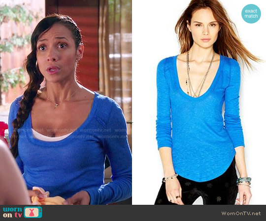 Free People Layering Me Top worn by Dania Ramirez on Devious Maids