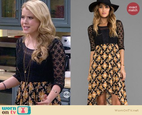 Free People Lonesome Dove Dress worn by Taylor Sprietler on Melissa & Joey