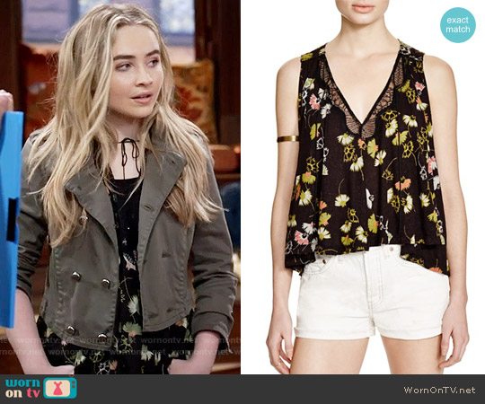 Free People Love Potion Top worn by Sabrina Carpenter on Girl Meets World