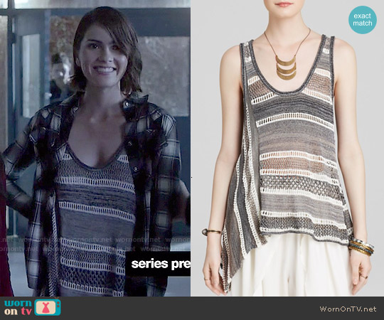 Free People Lovebird Tank worn by Shelley Hennig on Teen Wolf