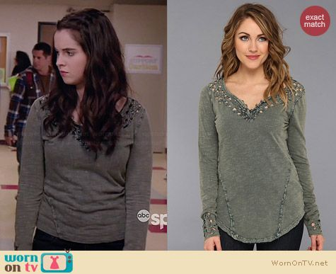 Free People Luna Top worn by Vanessa Marano on Switched at Birth