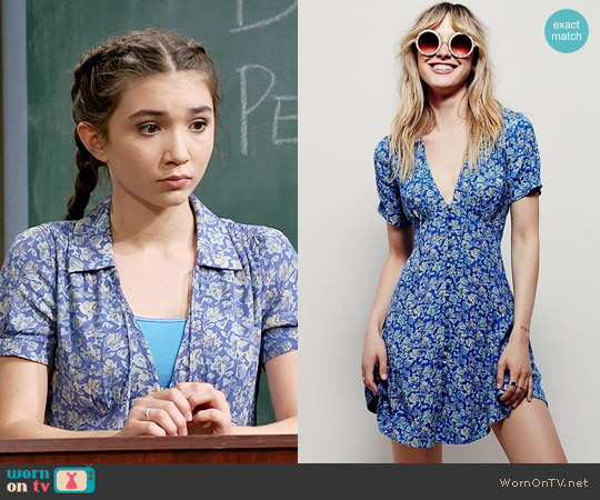 Free People Melody Dress worn by Rowan Blanchard on Girl Meets World