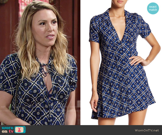 Free People Melody Dress worn by Elizabeth Hendrickson on The Young & the Restless