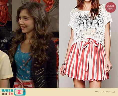 Free People Mercy for Molly Skirt worn by Rowan Blanchard on Girl Meets World