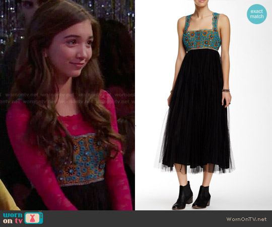 Free People Midnight Kiss Dress worn by Rowan Blanchard on Girl Meets World