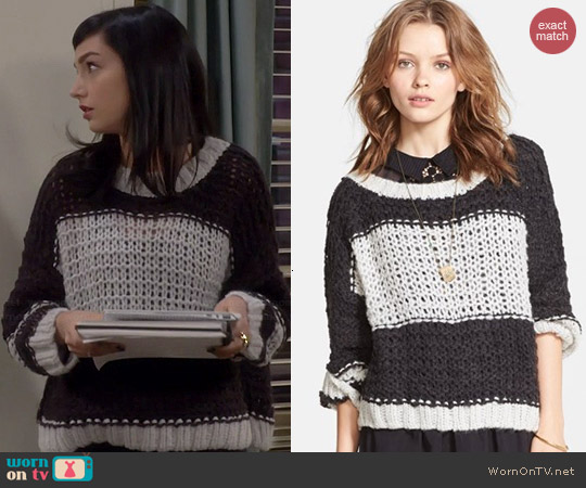 Free People Monaco Pullover worn by Molly Ephraim on Last Man Standing