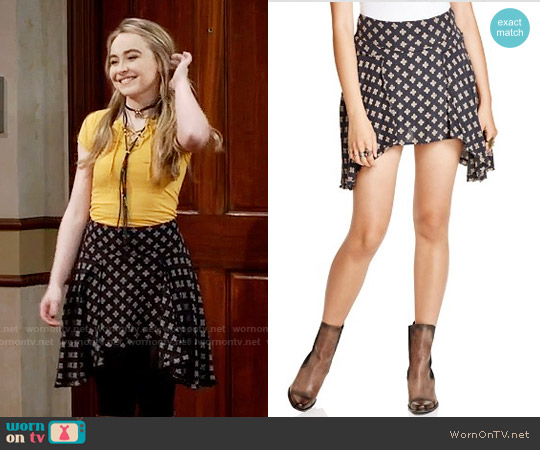 Free People New York Skirt worn by Sabrina Carpenter on Girl Meets World