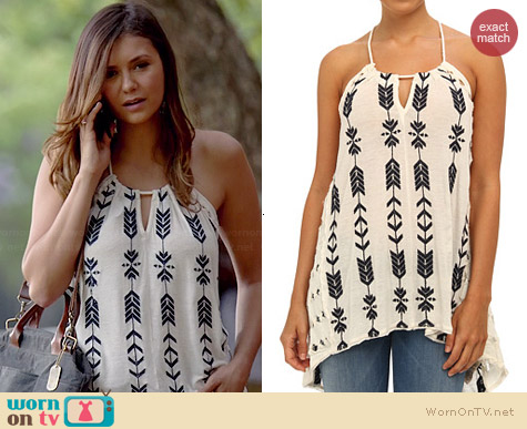 Free People Peace Arrow Tunic worn by Nina Dobrev on The Vampire Diaries