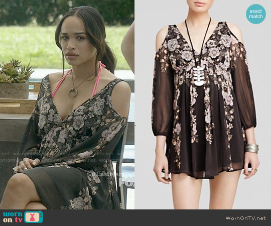 Free People 'Penny Lover' Dress in Raven worn by Cleopatra Coleman on Last Man On Earth