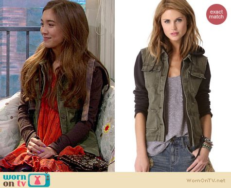 Free People Pieced Twill Jacket worn by Rowan Blanchard on Girl Meets World