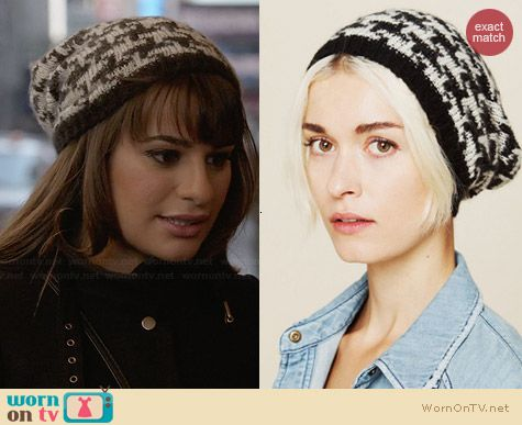 Free People Printed Intarsia Beanie worn by Lea Michele on Glee