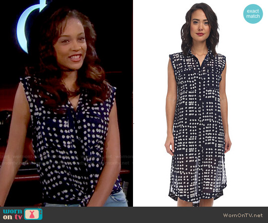 Free People Mercer Street Maxi Dress worn by Reign Edwards on The Bold & the Beautiful
