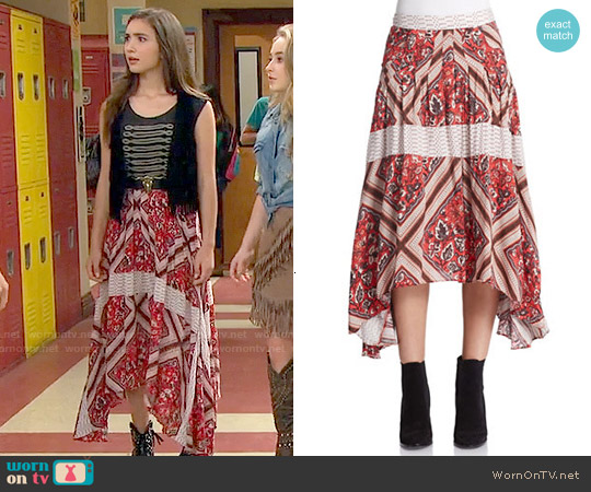 Free People Printed Paradise Skirt worn by Rowan Blanchard on Girl Meets World