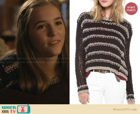 Free People Provence Pullover worn by Lennon Stella on Nashville