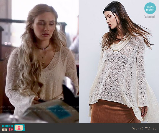 Free People Rain Fall Cowl Pullover worn by Clare Bowen on Nashville