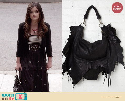 Free People Ridge Ripped Tote worn by Lucy Hale on PLL