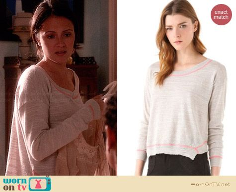 Free People Road Trip Sweater worn by Italia Ricci on Chasing Life