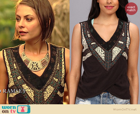 Free People Sahara Wrap Top worn by Willa Holland on Arrow