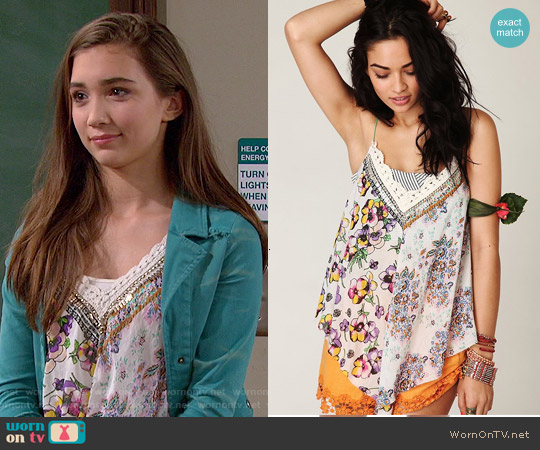 Free People Patchwork Scarf Cami worn by Rowan Blanchard on Girl Meets World