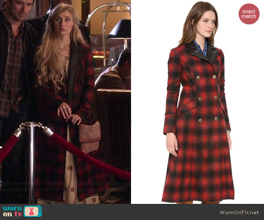 Free People Sargent Plaid Coat worn by Clare Bowen on Nashville
