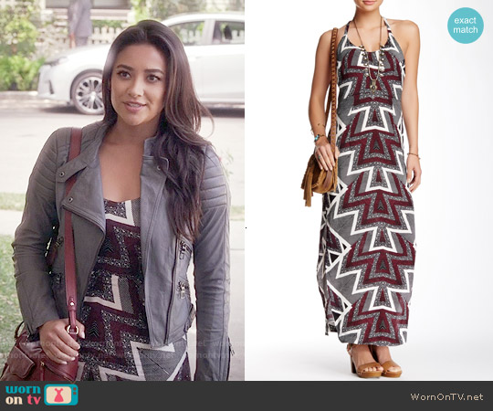 Free People Serves You Right Print Maxi Dress worn by Shay Mitchell on PLL