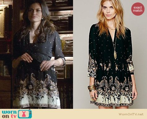 Free People Sierra Valley Shirtdress worn by Phoebe Tonkin on The Originals