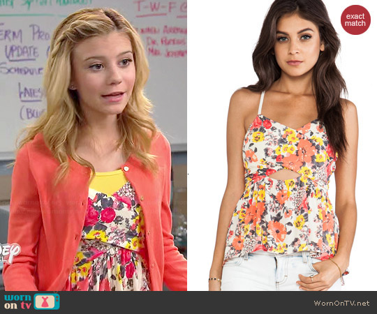 Free People Some Like it Hot Top in Swan Combo worn by G. Hannelius on Dog with a Blog
