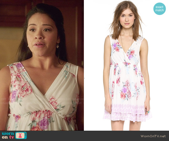 Free People Spring Fever Mini Dress worn by Gina Rodriguez on Jane the Virgin