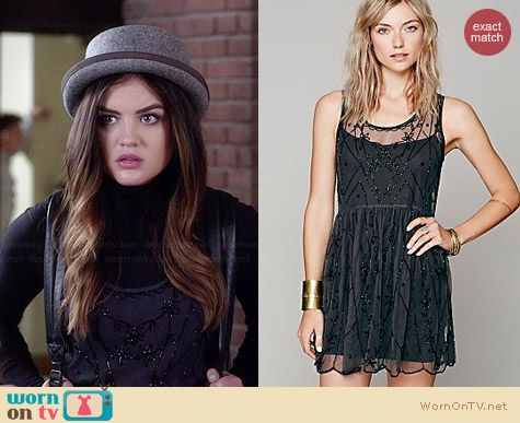 Free People Starry Night Slip worn by Lucy Hale on PLL