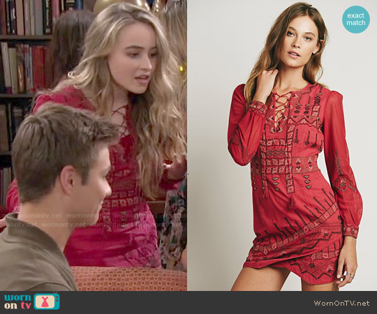 Free People Stella Dress worn by Sabrina Carpenter on Girl Meets World