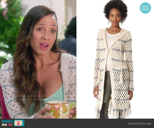 Free People Sunblock Mesh Cardigan worn by Dania Ramirez on Devious Maids