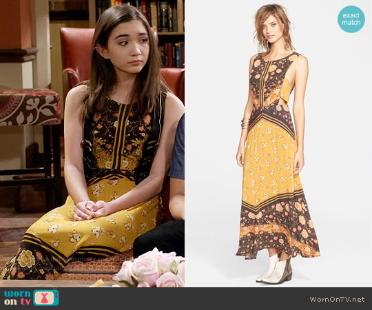 Free People Sunrise Oblivion Dress worn by Rowan Blanchard on Girl Meets World